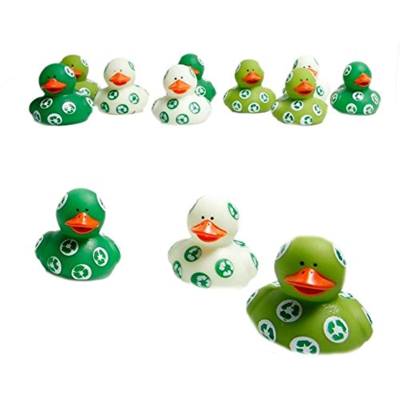 One Dozen (12) Recycle Rubber Ducks [並行輸入品]