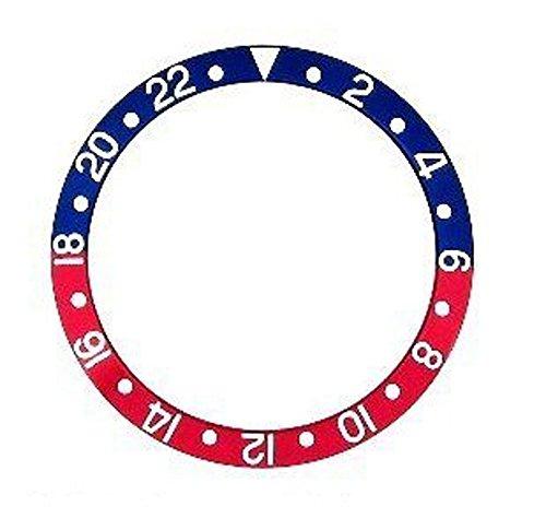 輸入王オリジナル GMTマスター ベゼル用 ベゼルディスク 社外品 16710,16700 ブルー/レッド r00