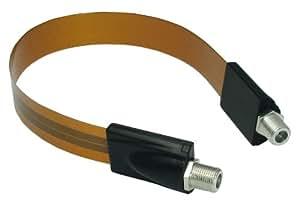 SOLIDCABLE フラットケーブル すき間ケーブル 0.3m 地デジ BS対応 F形接栓取付タイプ ソリッドケーブル #3232E/0.3