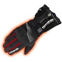 コミネ KOMINE バイク プロテクトエレクトリックグローブ12V 手袋 電熱 発熱 防寒 Black-Red/L 08-201 EK-201