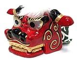 日本製 正月 縁起物 獅子舞 民芸品 獅子頭 中