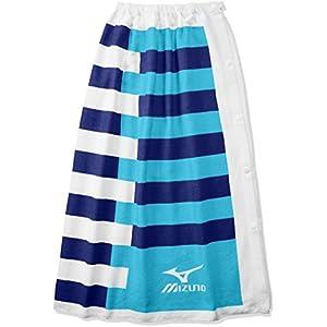 MIZUNO(ミズノ) スイムキャップ 水泳帽 スイム 巻きタオル N2JY7000 27)ブルー L プール・水泳 学校