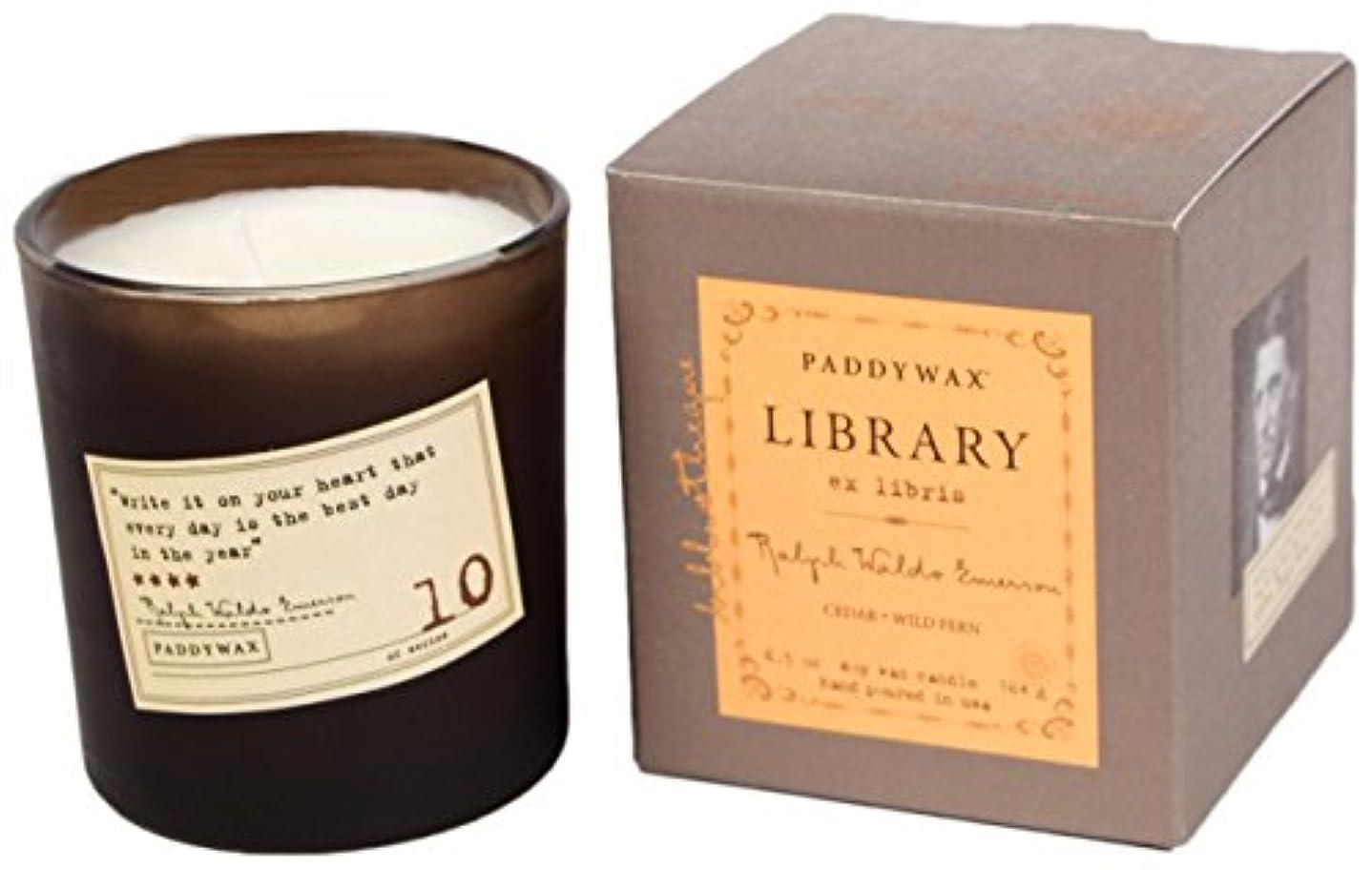 エレメンタル小間シュートPaddywax Ralph Waldo Emerson Soy Wax Candle, Cedar/Wild Fern