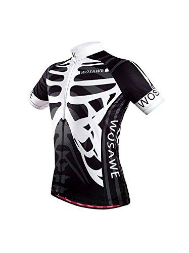 サイクルジャージ サイクルジャージ 上下セット 半袖 メンズ レディース 自転車ウェア メッシュ 4D立体デザイン (shirt-002, S)