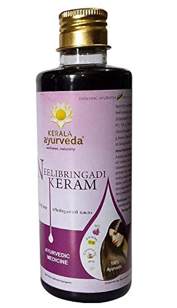 影のあるブランチやるNeelibringaadi Thailam Hair Oil 100ml - Kerala Ayurveda - Ayurvedic Hair Loss Oil