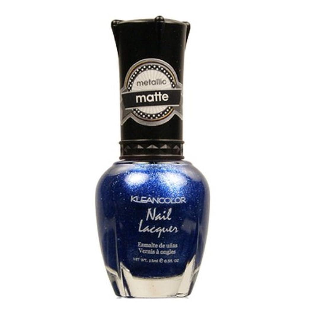 退却心から個人的な(3 Pack) KLEANCOLOR Matte Nail Lacquer - My My Sapphire (並行輸入品)