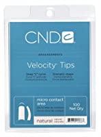 CND Velocity Tips - Natural - 100 Count