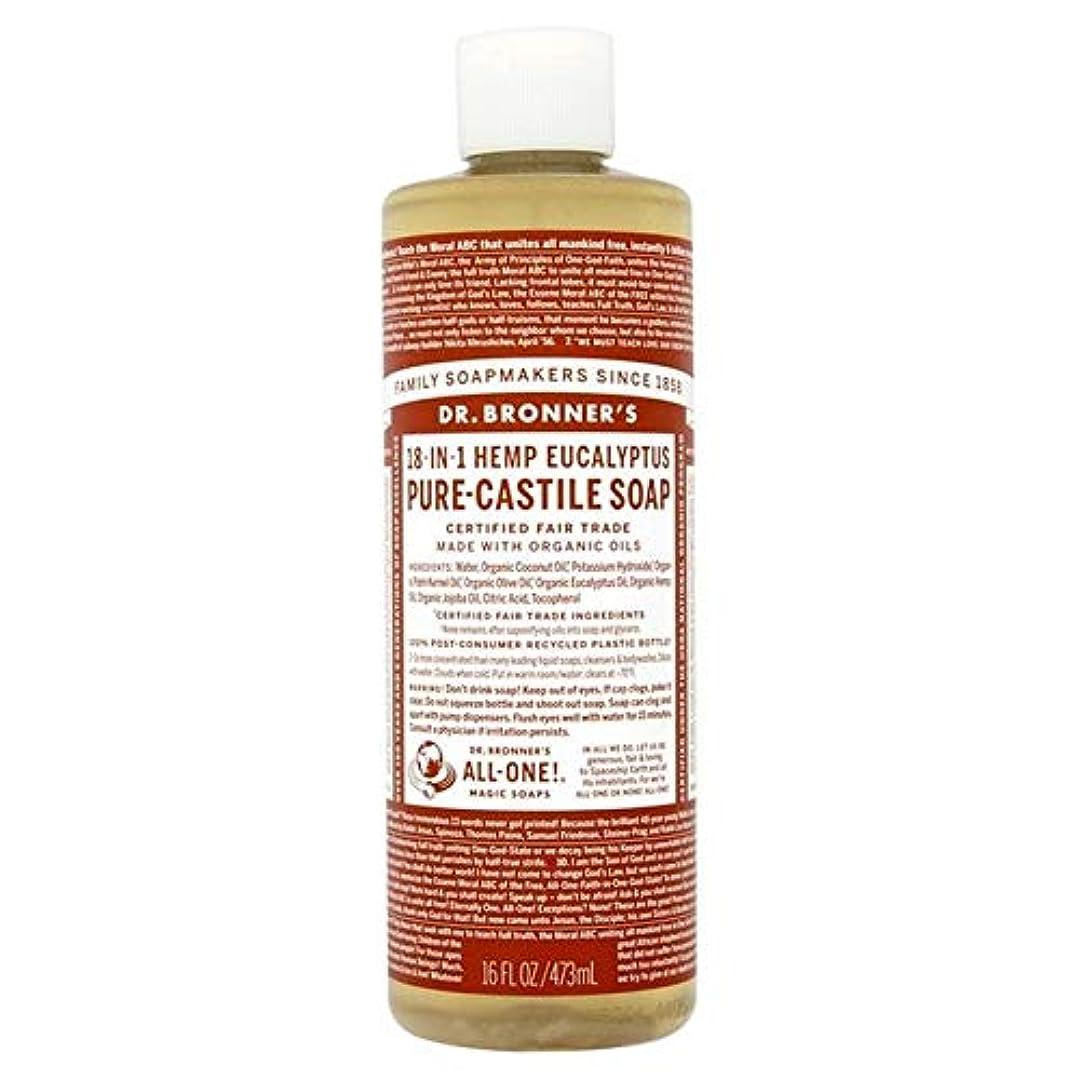 養う注釈参加する[Dr Bronner] Dr。ブロナーズ有機ユーカリの純粋な-カスティーリャ液体石鹸473ミリリットル - Dr. Bronner's Organic Eucalyptus Pure-Castille Liquid Soap...
