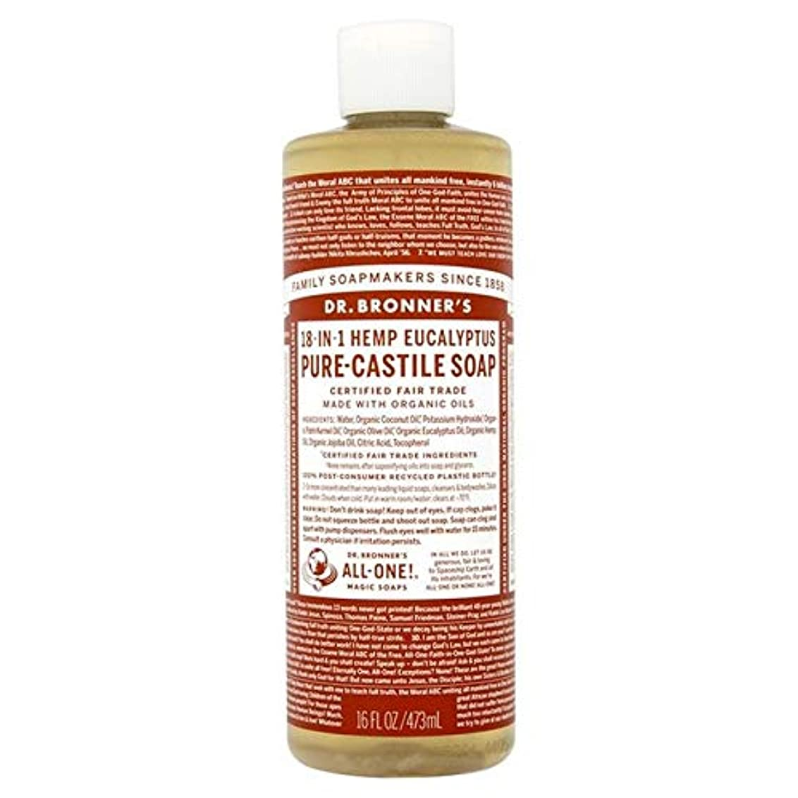 散逸前文ストライク[Dr Bronner] Dr。ブロナーズ有機ユーカリの純粋な-カスティーリャ液体石鹸473ミリリットル - Dr. Bronner's Organic Eucalyptus Pure-Castille Liquid Soap...