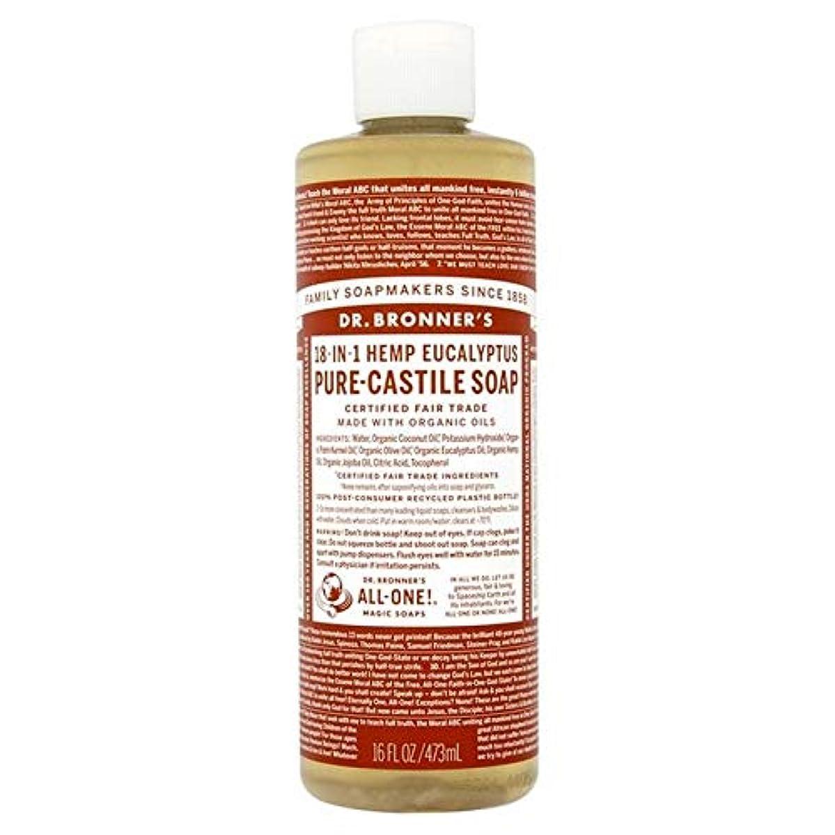 マットレス分離する所属[Dr Bronner] Dr。ブロナーズ有機ユーカリの純粋な-カスティーリャ液体石鹸473ミリリットル - Dr. Bronner's Organic Eucalyptus Pure-Castille Liquid Soap...