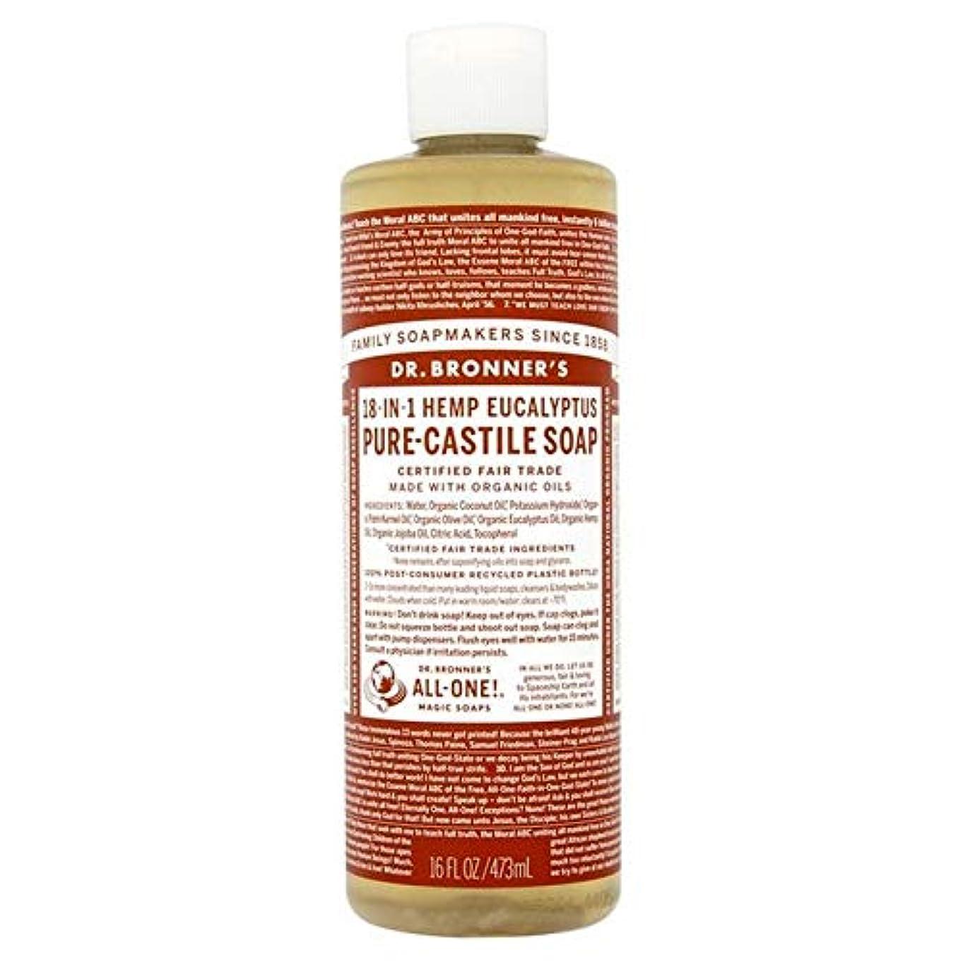 アルファベット順セットする狭い[Dr Bronner] Dr。ブロナーズ有機ユーカリの純粋な-カスティーリャ液体石鹸473ミリリットル - Dr. Bronner's Organic Eucalyptus Pure-Castille Liquid Soap...