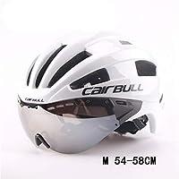 自転車用ヘルメット安全自転車用ヘルメット、取り外し可能な防風レンズ付き、ゴーグル、成人用、女性用、マウンテンロード、サイクリング用保護具、一体成型,F,M