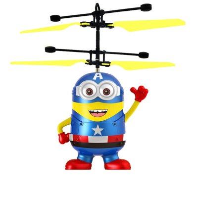 自動で空飛ぶミニオンズR/C オートホバリングで自動飛行 自動操縦 リモコン付き ヘリコプター RC ラジコン ハンドセンサーR/Cヘリコブター イエローキャラクターR/C (キャプテンアメリカ)