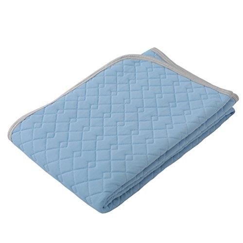 東京西川 クール敷きパッド シングル 接触冷感 ダブルメッシュで通気性UP SEVENDAYS ブルー PM07001548B