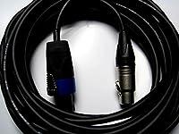 【当社オリジナル】【複数購入で割引】 SPX005-BS(SC) (CANARE) スピコン-キャノン 50cm 黒/ブラック 4芯 シルバープラグ