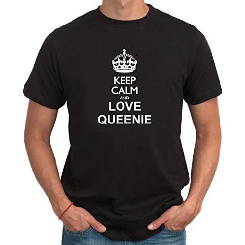 Keep calm and love Queenie メンズTシャツ