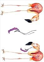 igsticker ポスター ウォールステッカー シール式ステッカー 飾り 210×297㎜ A4 写真 フォト 壁 インテリア おしゃれ 剥がせる wall sticker poster 014353 フラミンゴ 鳥 ピンク