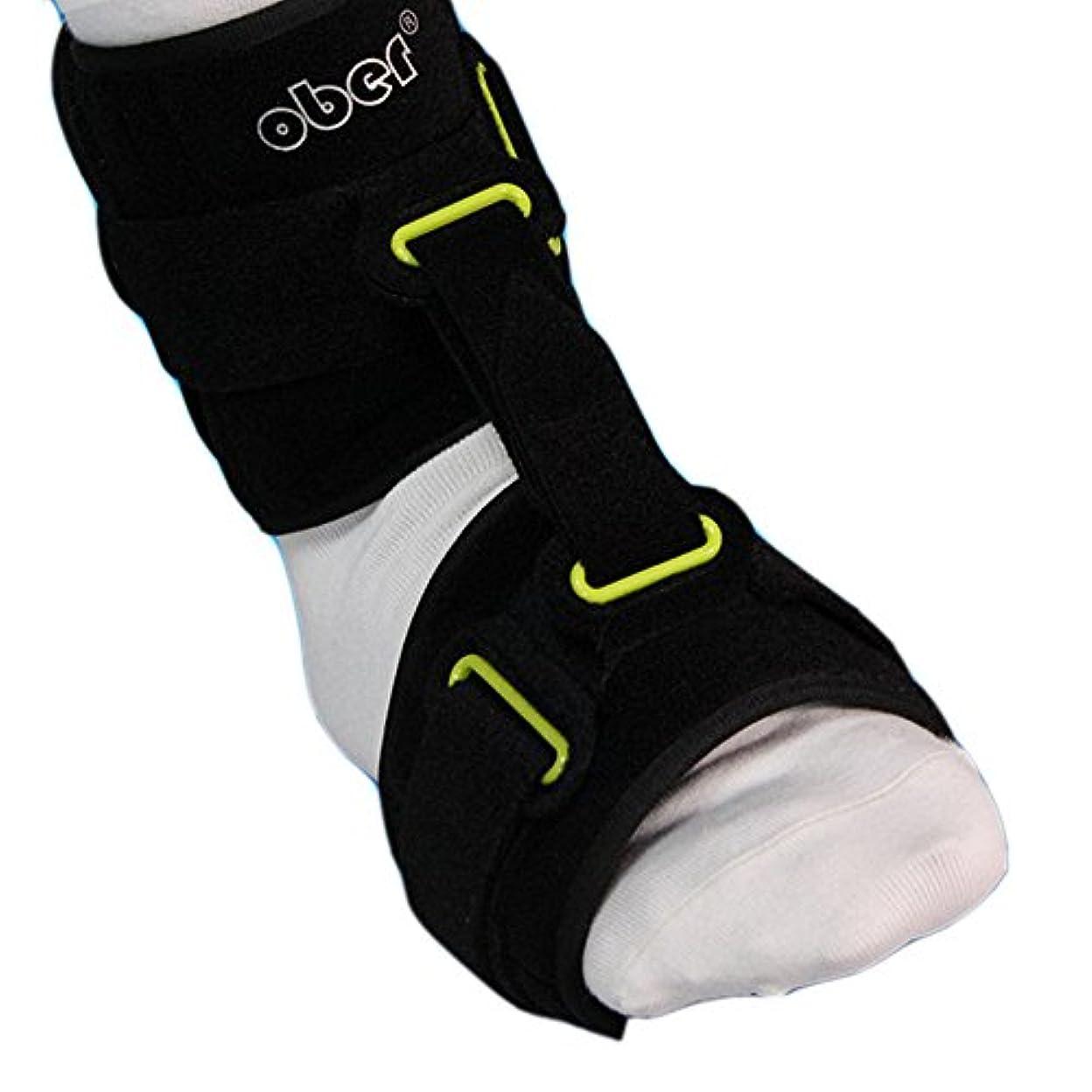 コウモリなめる田舎OBER 垂れ足矯正機 足底筋膜炎夜用足托矯正機 足首固定紐付、角度が調節可能 足垂れ用サポート