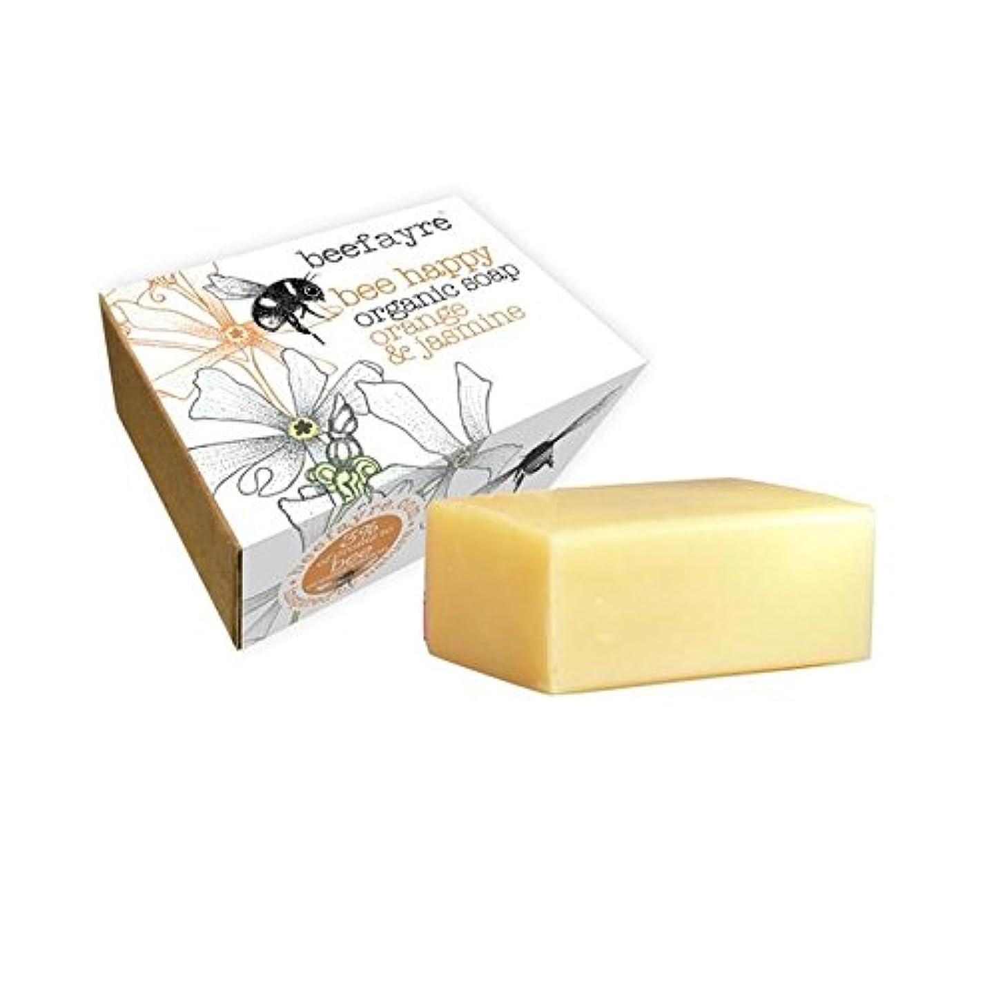 鹿二年生コットン[Beefayre] 有機オレンジ&ジャスミン石鹸Beefayre - Beefayre Organic Orange & Jasmine Soap [並行輸入品]