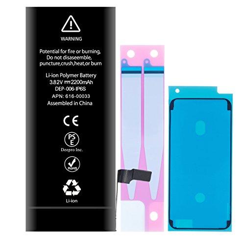Deepro iphone6s 交換用 バッテリー 大容量 2200mAh PSE基準 固定用テープ付き (iPhone6s 大容量)