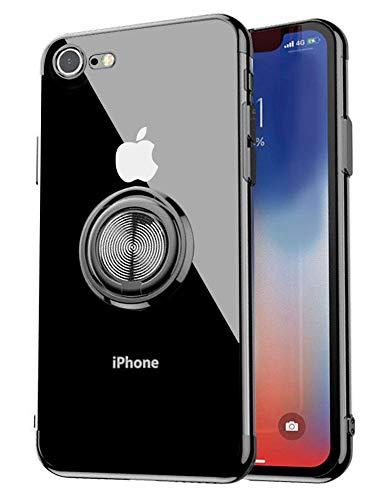 iPhone8ケース/iPhone7 ケース リング付き 透...