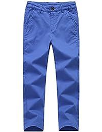 f40db491aa166 KID1234男の子 ロングパンツ ズボン キッズ パンツ ストレート ストレッチ ストレッチ ウエスト男児 調整可能 薄手カジュアル ロングパンツ  子供服 無地 吸汗 通気性…