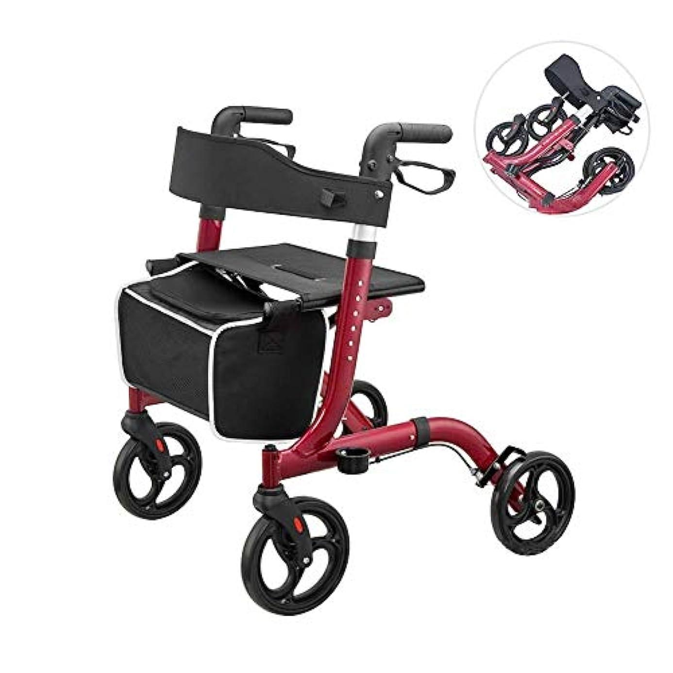 良性ぜいたくバック障害者および老人用の座席と買い物かごを備えた軽量折りたたみ式歩行器