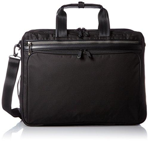 [エースジーン] ace.GENE 軽量ビジネスバッグ フレックスライト フィット 43cm B4サイズ 2気室 PC収納 エキスパンダブル 54560 01 (ブラック)