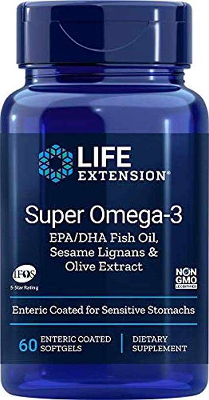 人物雇った風SUPER OMEGA-3 EPA/DHA W/SESAME LIGANS & OLIVE EXTRACT EXTERIC COATED 60 SOFTGELS 海外直送品