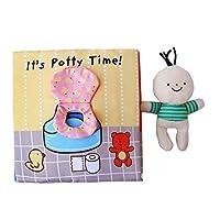 幼児早期教育パズル布帳0-1-3歳の子供たちは破れたトイレットペーパーを啓発 (Panda) (色:カラフル)