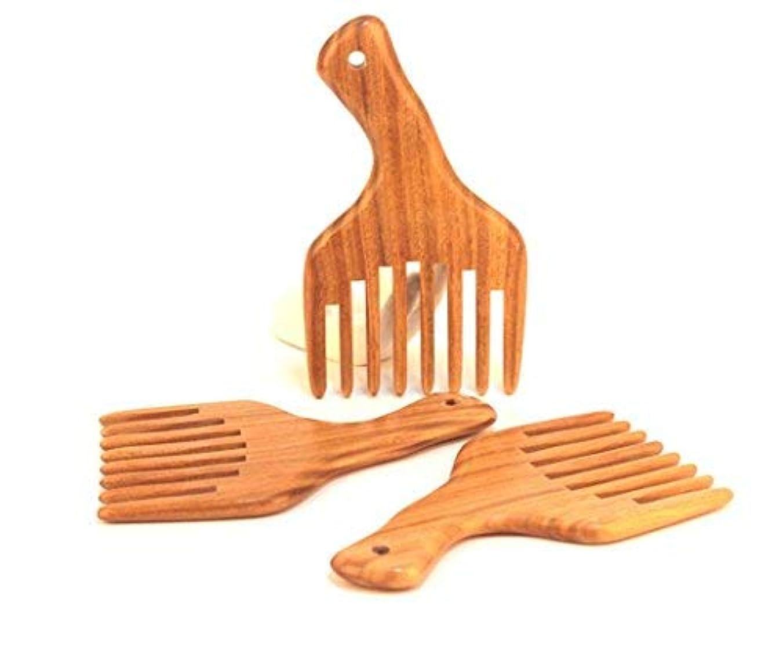分析する新鮮なカレッジ1PC Hot sale Wide Tooth Sandalwood Comb Smooth Detangler Pick For Long Hair or Massive Beard Massages Scalp Anti-Static...