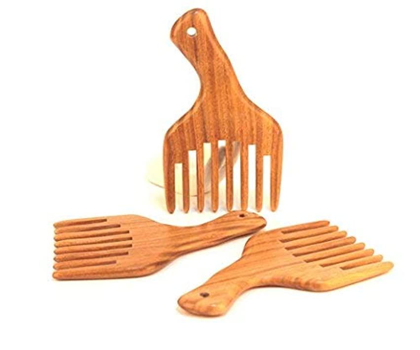 ベテラン不完全影響する1PC Hot sale Wide Tooth Sandalwood Comb Smooth Detangler Pick For Long Hair or Massive Beard Massages Scalp Anti-Static...