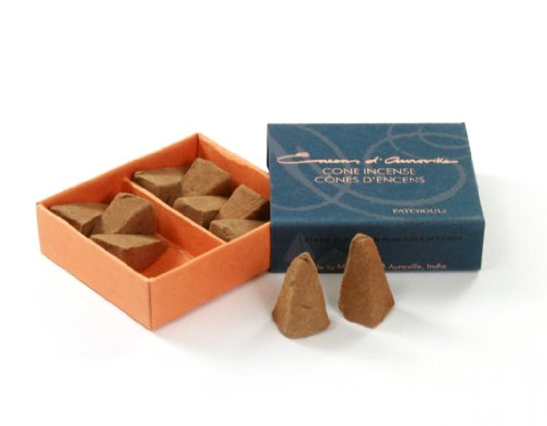 マーチャンダイジング正義食用Maroma Incense Cones、ボックスの10、パチュリ