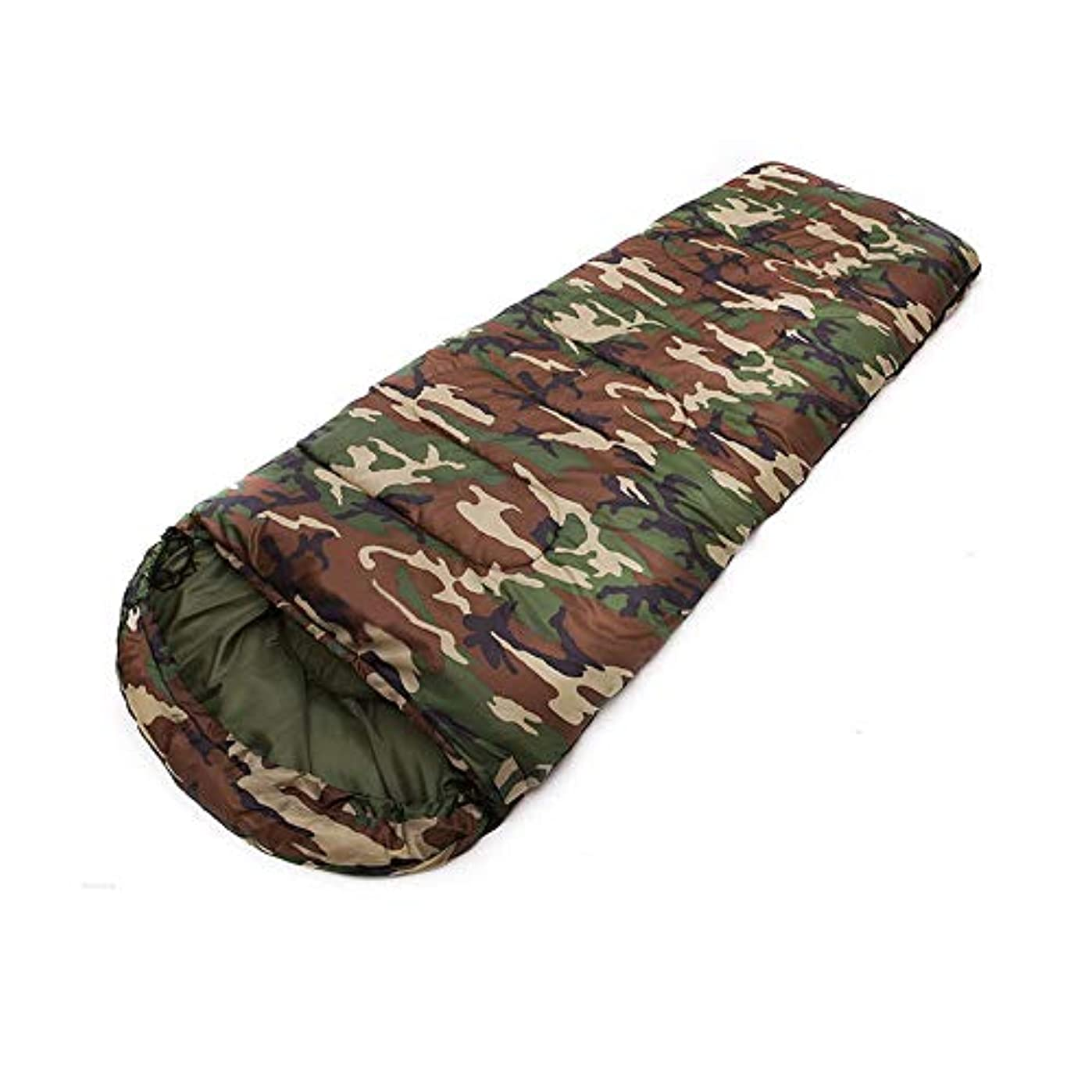 バーゲン異常多様なQIONGYU 寝袋 封筒型 シュラフ 防水 コンパクト アウトドア 登山 車中泊 丸洗い 1.8kg オールシーズン 冬用 快適使用温度 -10℃~20℃