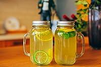 Jinglebells Mason Glass Jar with Lid 24 OZ クリア 17021