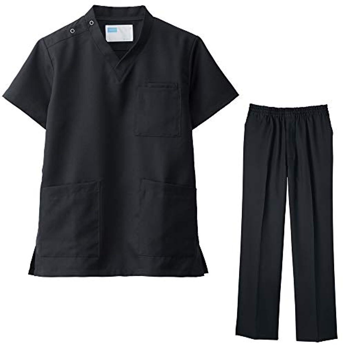 混合一部聖職者スクラブ&パンツセット 白衣 医療用 ホワイセル whisel 自重堂 男女兼用 WH1148511486