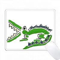面白い緑アリゲーターペンとインクスタイルのアート PC Mouse Pad パソコン マウスパッド