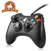 コントローラー xbox 360 Cosoft ゲームパッド PC USB ゲームコントローラー有線 コントローラー Windows PC (Windows 10/8.1/8/7)二重振動 人体工学 多システム対応