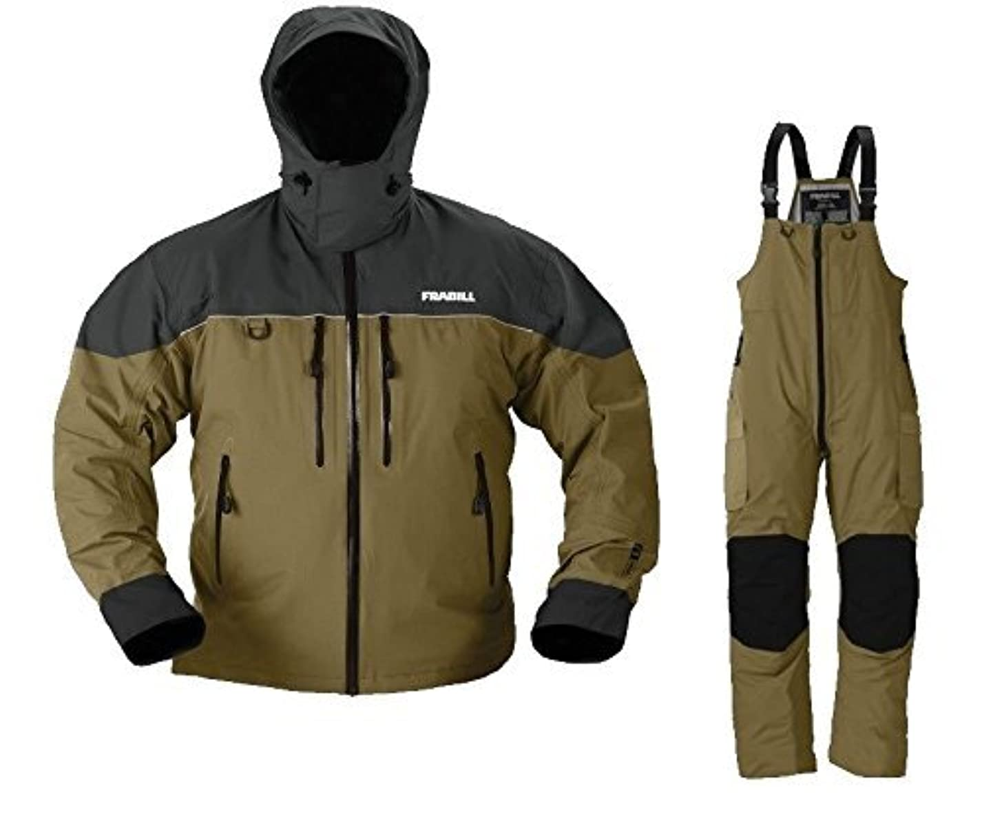 シャイニングフォーカス魅了するFrabill f3 Galeジャケットとパンツスーツ – ブラウン – 3 x l