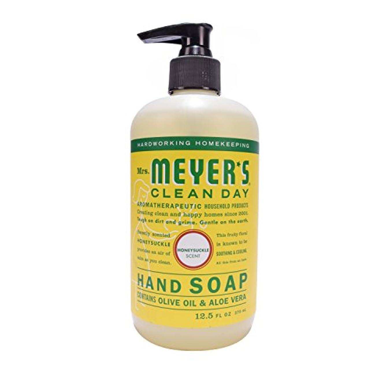 パラシュート聞きますキリスト教Mrs. Meyer's Clean Day Hand Soap Liquid, Honeysuckle, 12.5-Fluid Ounce Bottles by Mrs. Meyer's Clean Day