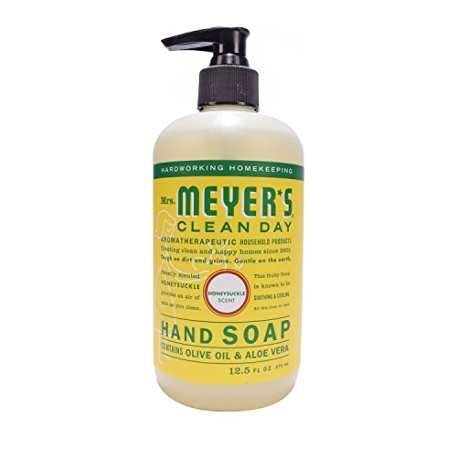 パイプ愛撫クレタMrs. Meyer's Clean Day Hand Soap Liquid, Honeysuckle, 12.5-Fluid Ounce Bottles by Mrs. Meyer's Clean Day