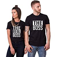 Double Fashion Matching Couple Shirts-The BOSS&The Real BOSS Shirts-His&Her Shirts