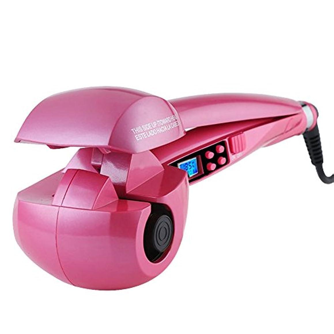簡単にペパーミントペパーミントH-POWER ヘアアイロン オートカール 海外対応(ピンク)