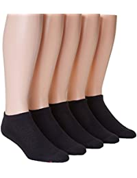 Hanes x-temp快適クールブラックno show socks – 5パック(u21 – 5 )
