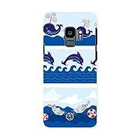 Galaxy S9 SCV38 ギャラクシー S9 Samsung サムスン docomo ドコモ スマホカバー カバー ケース pc ハードケース アニマル イルカ くじら 海 005350