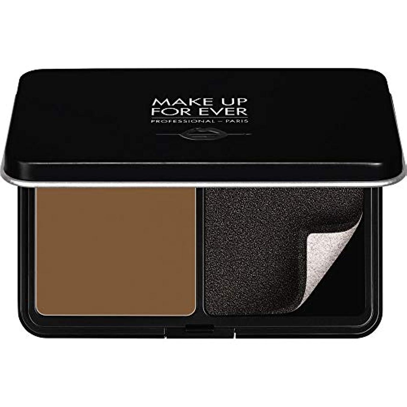 温度見習い創始者[MAKE UP FOR EVER] パウダーファンデーション11GののR540をぼかし、これまでマットベルベットの肌を補う - ダークブラウン - MAKE UP FOR EVER Matte Velvet Skin Blurring Powder Foundation 11g R540 - Dark Brown [並行輸入品]