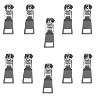 chiwanji 10個 金属製 ジッパーヘッド スライダー 交換 修理キット 銀