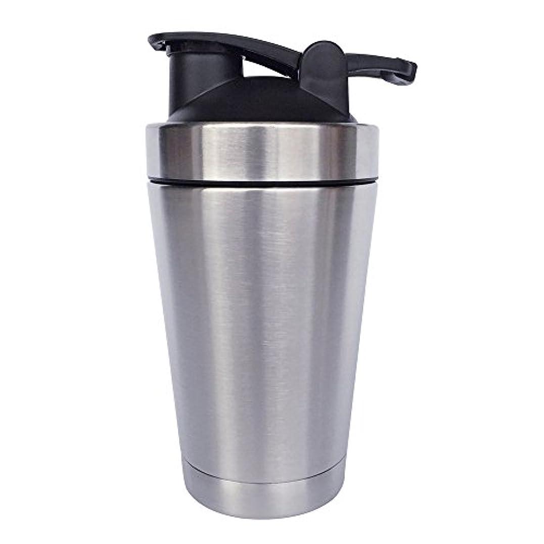 シンプルさ映画コマンドステンレス鋼 スポーツウォーターボトル タンパク質ミルクセーキシェーカー?カップ 振ってボール 小さいサイズ 500ml