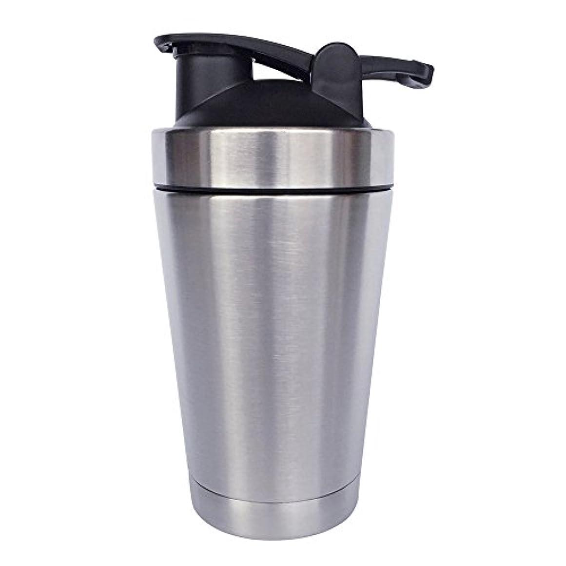 シェルター好色なフォーマルステンレス鋼 スポーツウォーターボトル タンパク質ミルクセーキシェーカー?カップ 振ってボール 小さいサイズ 500ml