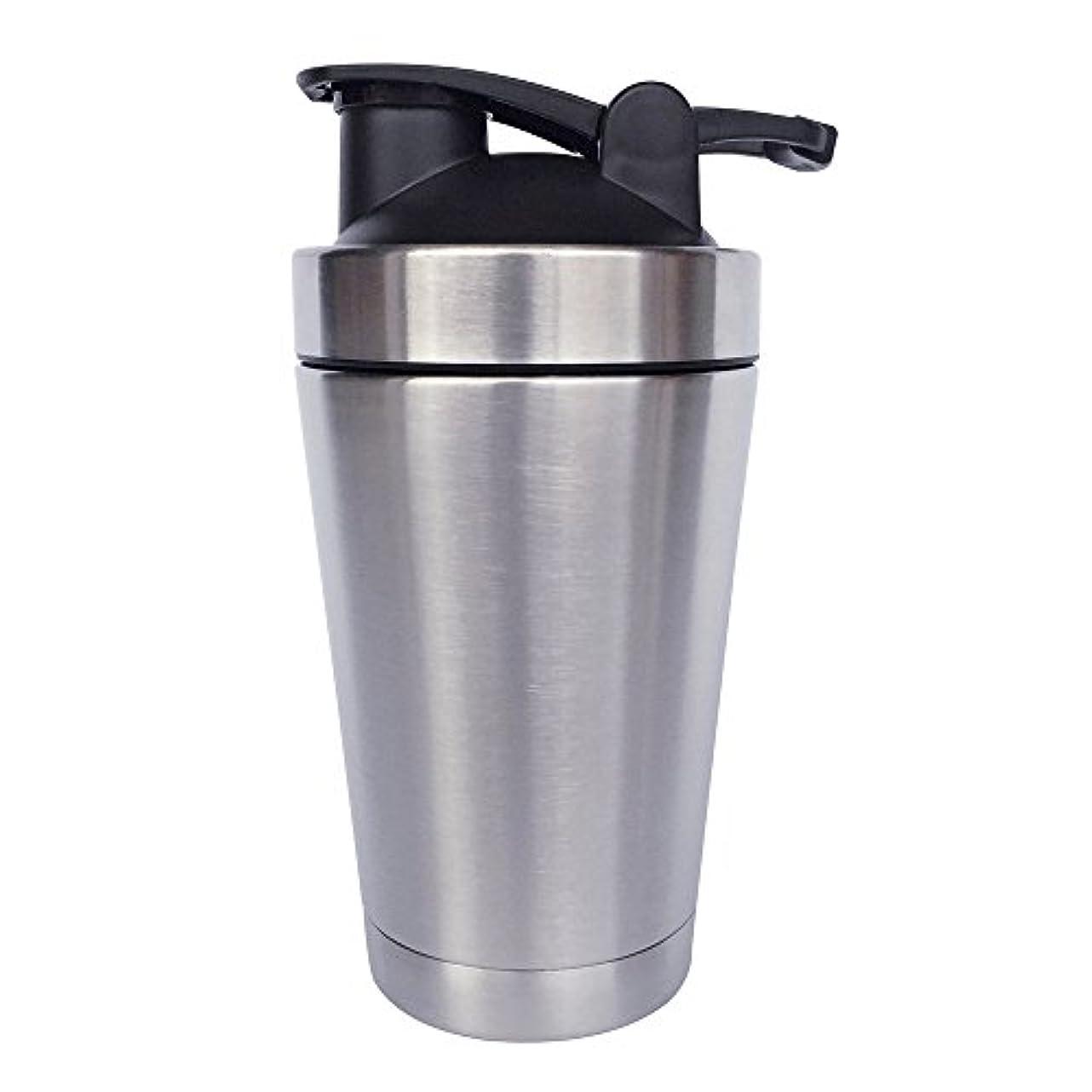 恩赦最も早い無一文ステンレス鋼 スポーツウォーターボトル タンパク質ミルクセーキシェーカー?カップ 振ってボール 小さいサイズ 500ml